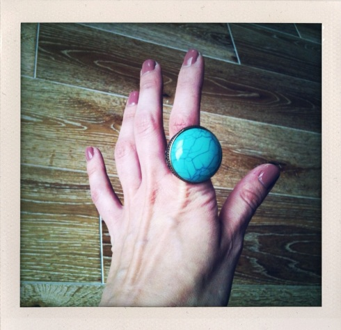 Bague turquoise H&M